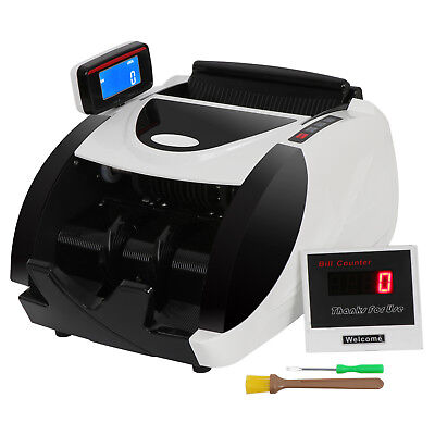 Money Bill Counter Machine Cash Counting Bank Counterfeit Detector Checker Uv Mg