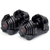 Bowflex SelectTech 1090 Workout Exercise Dumbbells w/ Adjustable Weight (2 Pack)