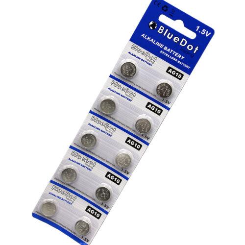 USA SELLER 10 Pieces ~ AG10 SR54 SR1130W 189 L1130 SB-BU Alkaline Watch Battery