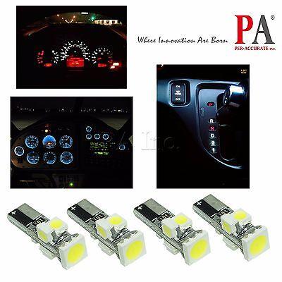 2Pcs T5 74 Twist Socket Instrument Panel Cluster WHITE Dashboard LED Light Bulb