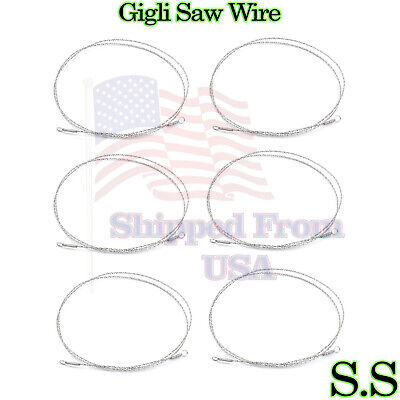 6 Pcs Gigli Saw Wire Neuro Surgical Veterinary Instruments 91220