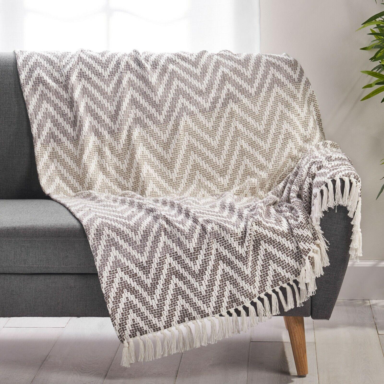 Raylinn Boho Fabric Throw Blanket Bedding