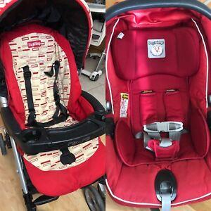 Poussette et siège d'auto Peg-Perego , stroller and car seat