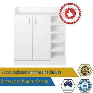 21 Pairs Shoe Cabinet Rack Storage Organiser Shelf 2 Doors Cupboa Paddington Eastern Suburbs Preview