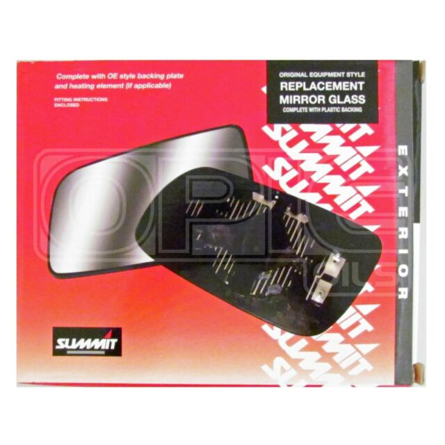 Replacement Mirror Glass Backing Plate & Heating - SRG-255BH - Vauxhall Vectra