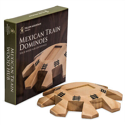 Yellow Mountain Imports Wooden Hub Centerpiece for Mexican Train Dominoes