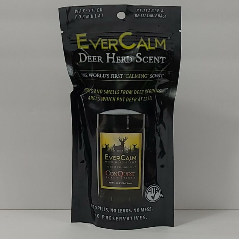 Conquest 1214 Evercalm Deer Herd Hunting Scent Stick New