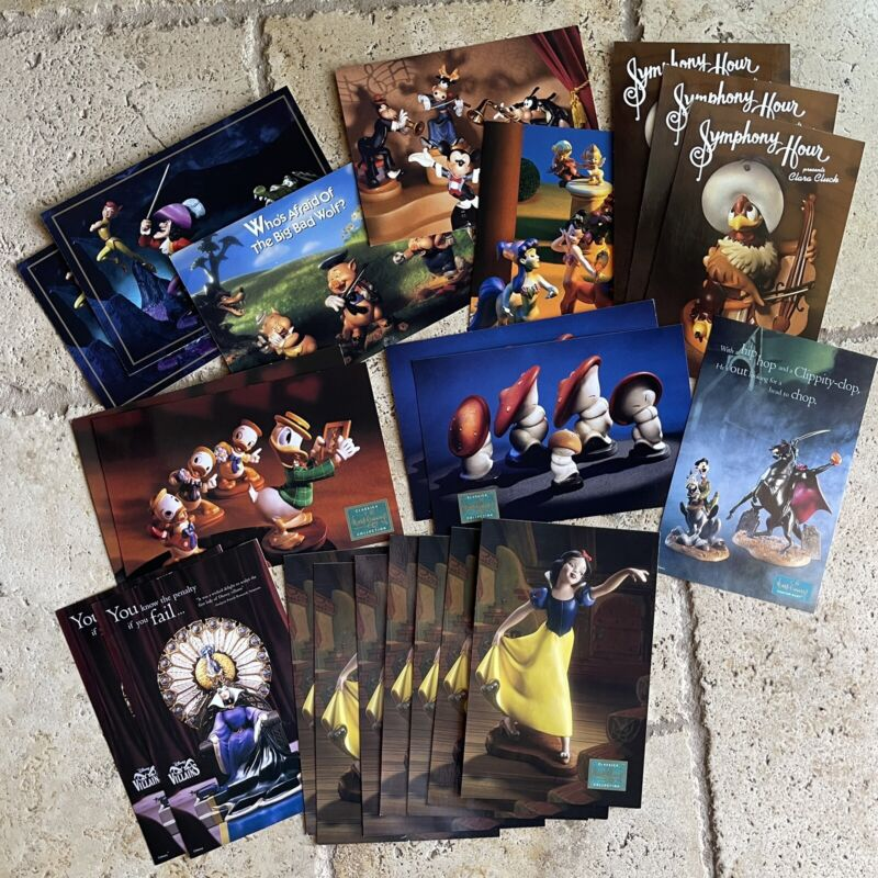 Walt Disney Collectors Society - Oversized Postcards - Lot of 22