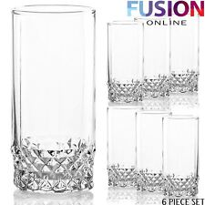 SET OF 6 TUMBLERS GLASSES DRINKING 300ML HIGHBALL STYLE GLASSWARE JUICE PARTY