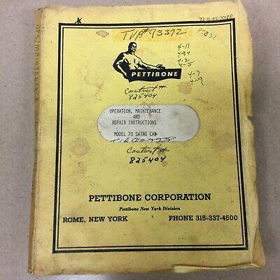 Pettibone 70 Crane Operation Maintenance Service Repair Manual Rough Terrain