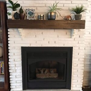 Custom Beam Mantels (crafted by local carpenter)