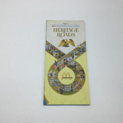 Vintage CLEAN Earlier Brochure - HERITAGE ROADS mcdonalds Region 1 -