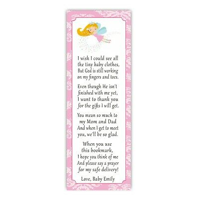 Baby Girl Baby Shower Ideas (30 bookmarks baby girl shower sprinkle favor ideas pink fairy pixie)
