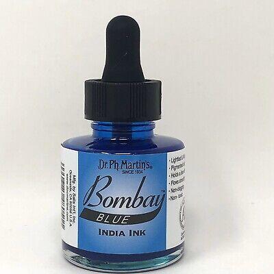 Dr. Ph. Martin's Bombay India Ink 1.0 oz Blue NEW