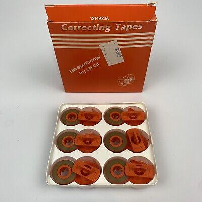 Ibm-style Orange Dry Lift-off Correctingtapes For Correcting Selectric Ii Iii