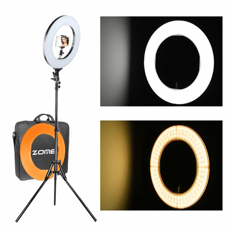 Camera Photo Video Dimmable Ring Light Lighting Kit 14""