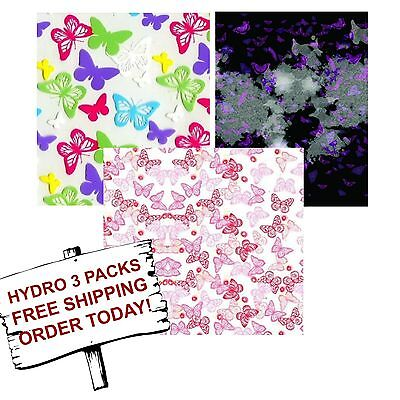 Hydrographic Film Water Transfer Printing Film Hydro Dip Butterfly 3 Pack