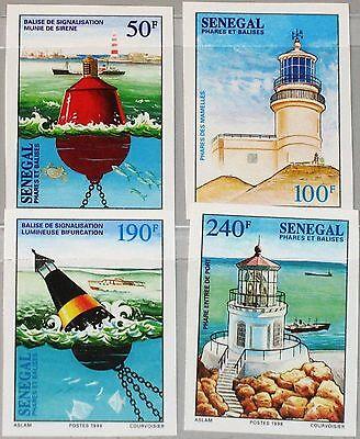 SENEGAL 1998 1567-70 U 1322-25 imperf Seezeichen Nagigation Aids Lighthouses MNH