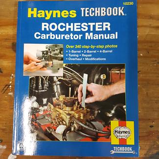 4 x Rochester quadrajet books