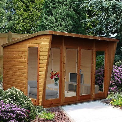 Wooden Summerhouse Shed Garden 10X10 Outdoor Large Cabin Playhouse