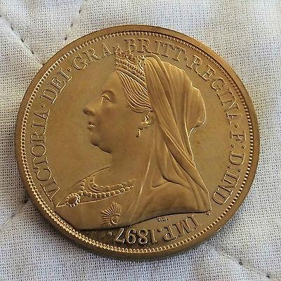 1897 QUEEN VICTORIA GOLDEN PROOF PATTERN CROWN