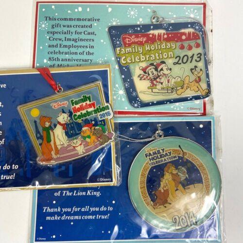 Lot of 3 Disney Commemorative Ornament Mickey, The Lion King, Aristocats