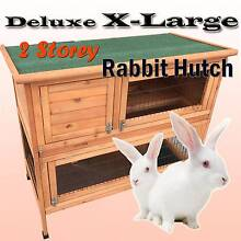 Warehouse pickup 116cm timber wooden rabbit hutch cage 2 trays Riverwood Canterbury Area Preview