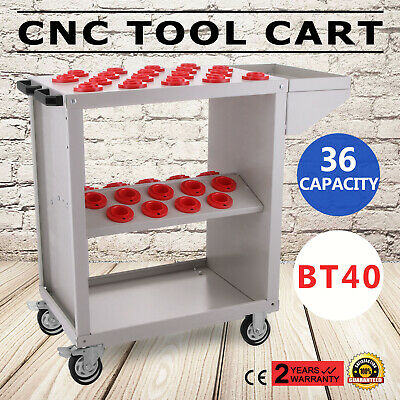 BT40 CNC Tool Trolley Cart Holder Toolscoot White Super Scoo