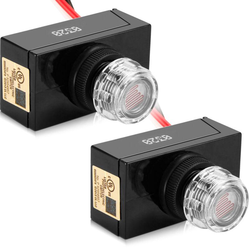 2pcs Outdoor Electric Resistor Photocell Light Control Sensor Switch JL103A Fast