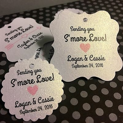 Wedding Favor Tags,  S'more Love, S'more Favor Personalized