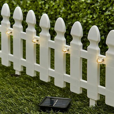 6-Ft. Solar Border Fence Panel - Garden Landscape Edging -
