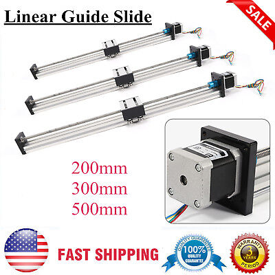 200-500mm Cnc Linear Actuator Stage Lead Screw Slide Rail Guide 42 Stepper Motor