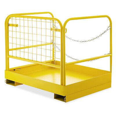 3629 Forklift Work Platform Safety Cage Double Chains Durable Platform
