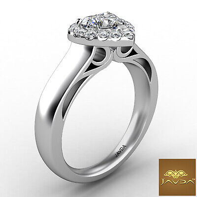 Halo Filigree Shank Prong Setting Heart Diamond Engagement Ring GIA G VS1 0.7Ct 6