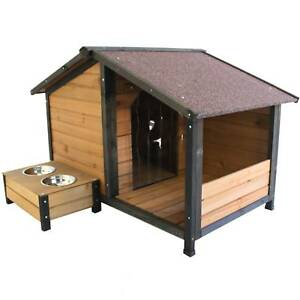 Small Dog Kennel House With Pet Sit Out Balcony Optional Bowls