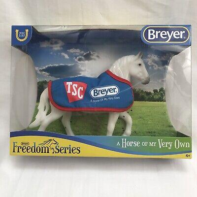 Breyer 5479 TSC Grey Percheron Draft Horse with Blue Blanket Exclusive 1:2 Scale