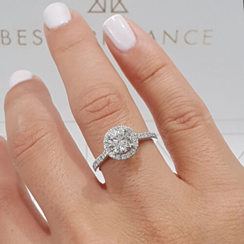 2.53 Carat Round shape F - VS2 Halo Diamond GIA Engagement Ring custom size