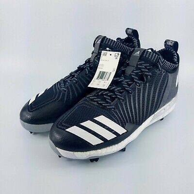 buy popular aa5f7 b527d adidas Boost Icon 3 Metal Baseball Cleats - Black White - B39167 - Size  11