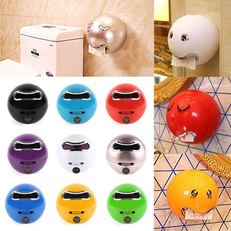 Emoji WC-Papierhalter Kugel Toilettenpapier Rollenhalter Klopapierhalter DE NEU
