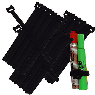 30pc 820cm Nylon Cable Ties Wire Strap Zip Wrap Fastening Self Gripping Black