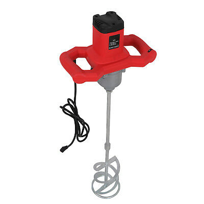 New Electric Mortar Mixer 1600W Dual High Low Gear 6 Speed Paint Cement Grout
