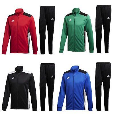 adidas Trainingsanzug Männer Herren 3 Streifen Sportanzug Jogginganzug grün -XXL