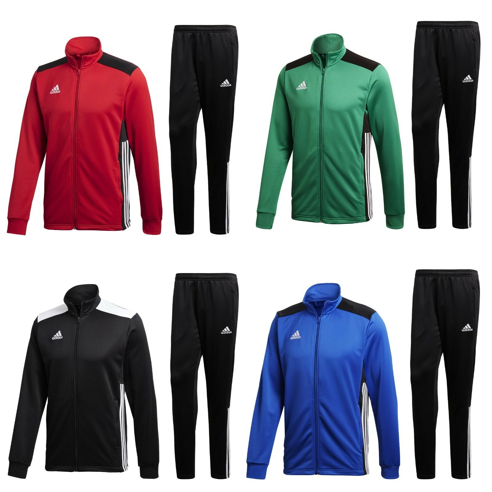 adidas Trainingsanzug Männer Herren Sportanzug Jogginganzug schwarz grün roter