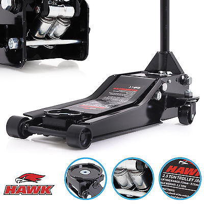 HAWK 2.5 TON HEAVY DUTY LOW PROFILE VEHICLE CAR GARAGE TROLLEY LIFT LIFTING JACK