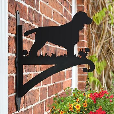 New Cocker Spaniel Dog Iron Hanging Basket Bracket