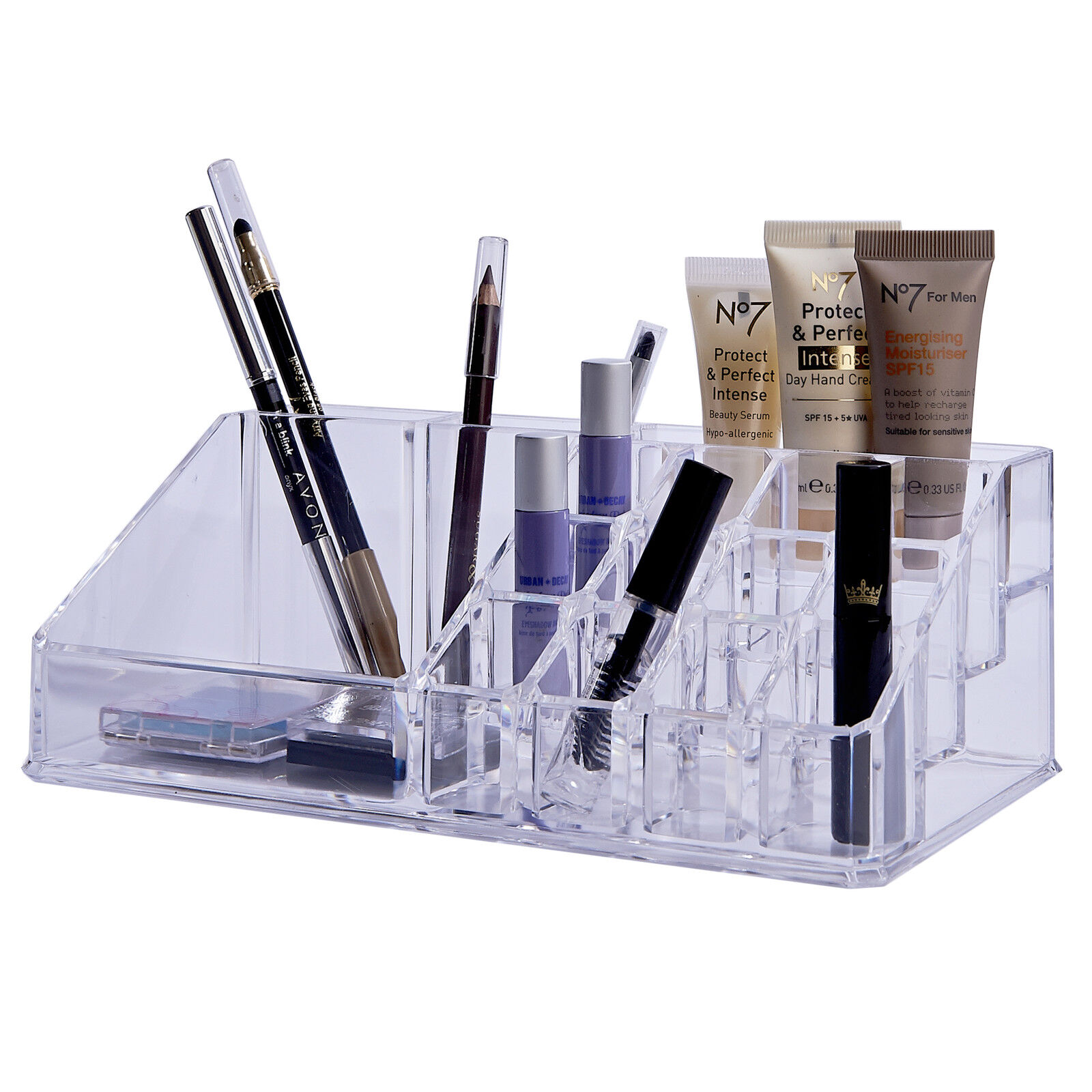 Details about COSMETIC MAKE UP NAIL POLISH ORGANISER DISPLAY STAND RACK  CLEAR ACRYLIC MAKEUP
