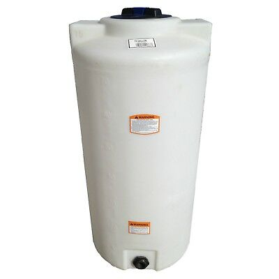 75 Gallon Vertical Poly Tankcontainer Indoor Water Or Chemical Storage