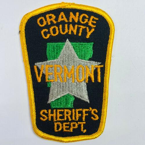 Orange County Sheriff Vermont VT Patch