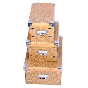 Set-3x-Scatola-Cartone-DynaSun-FC1299KBS-Box-Porta-Oggetti-Salvaspazio-Organizer