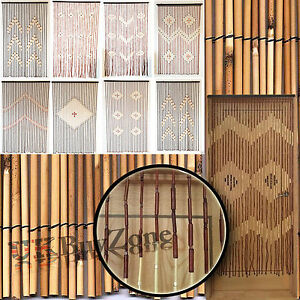 Bamboo Hanging Door Curtain Wooden Beaded Fly Bug Screen Blinds Various Designs